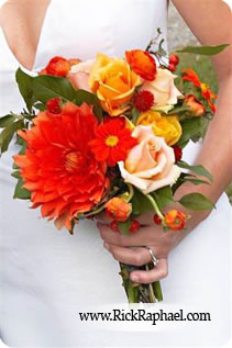 Beautiful bouquet in a bride's hand on her wedding day (photography by Rick Raphael)